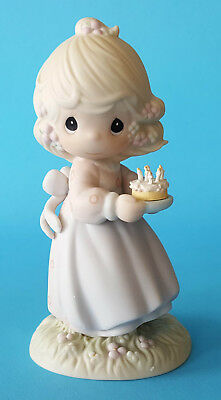 "Precious Moments 524301 ""May Your Birthday Be A Blessing"" Figurine 1990 W/Box"