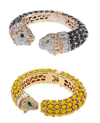 AMISHI LONDON Cheetah Yellow Cuff Bangle or Lion Black Cuff Bangle Brand New