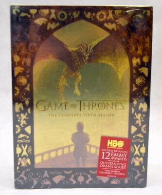 Game of Thrones: The Complete Fifth Season (DVD, 2016, 5-Disc Set) New & Sealed!