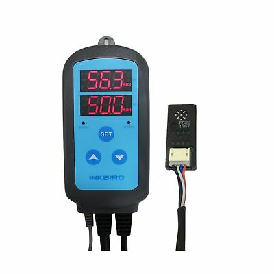 Inkbird AC 110V Digital Pre-wired Outlet Dural Stage Humidity Controller with...