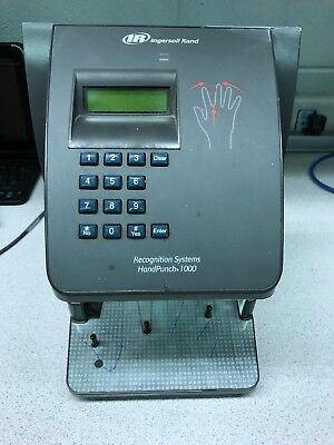 IR Ingersoll Rand Recognition Systems HandPunch 1000 Biometric Time Clock