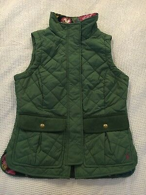 Joules Green Ladies Gilet Size 8