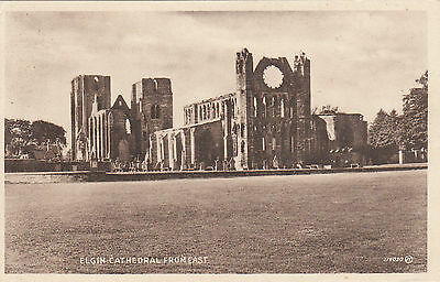 The Cathedral From East, ELGIN, Morayshire