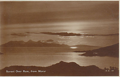 Sunset Over Rum, MORAR, Inverness-shire RP