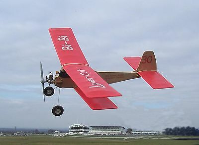 "Bi-Bi 30"" Span Free Flight Bi Plane Laser cut Kit for .55cc to .75cc Engines"