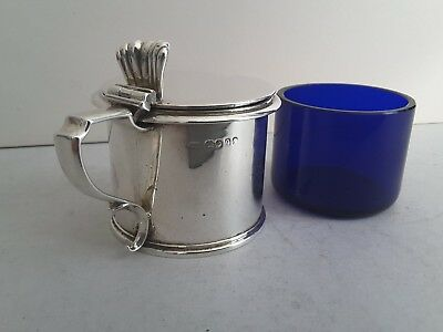 Quality Georgian Antique Solid Silver Drum Mustard Pot.   London 1831.