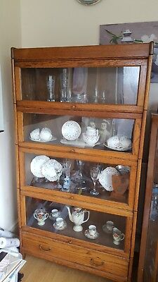Globe Wernicke - With Draw + 4 Unit Stacking Bookcase/display Cabinet.