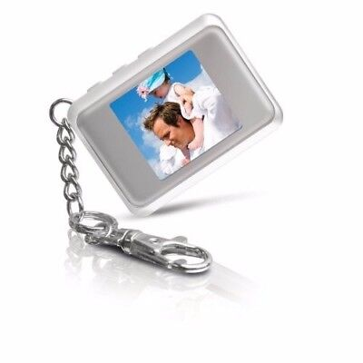 """Coby white LCD DP-151 1.5"""" Digital Photo Picture Keychain up to 60 pictures! NEW"""