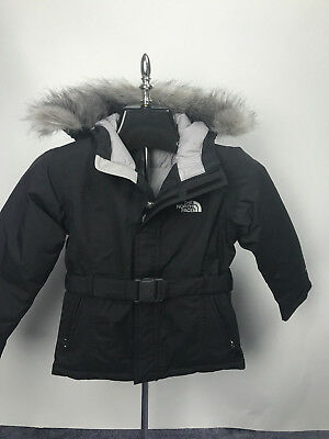 0e5001f0 Girls Kids The North Face Greenland Jacket Parka Black Down Puffer Size Xs  Nwt