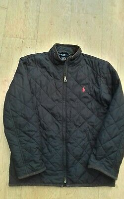 Ralph lauren navy quilted jacket age 10-12 in lovely condition
