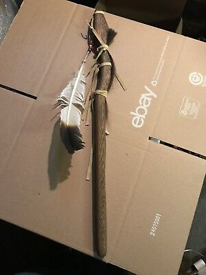 Ceremonial Native American Dance Talking Stick - Cane Wood