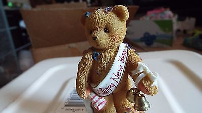 """Cherished Teddies: Newton """"Ringing in the New Year with Cheer"""""""