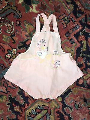 Vintage Hand Embroidered  Baby Girl Playsuit Circa 1947