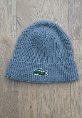 grey Lacoste beanie large boys