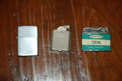 Lighters Zippo ( Modenn Salem)  Lot of 3 Vintage