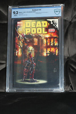Deadpool #34 (1:52) 3D Lenticular Variant by Mark Brooks GRADED 9.2