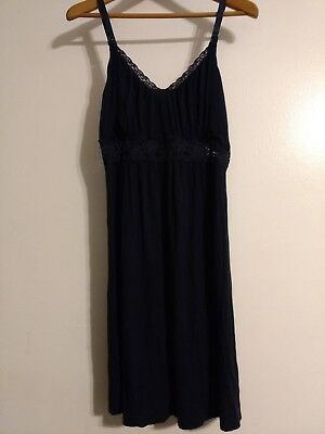 Jessica Simpson clipdown Nursing nightgown size Large navy blue Night dress L