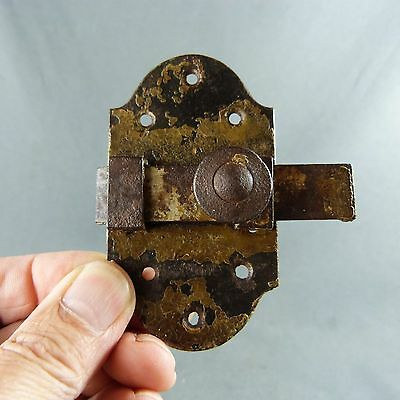 ANTIQUE FRENCH VINTAGE Iron Slide Bolt Latch Lock Door