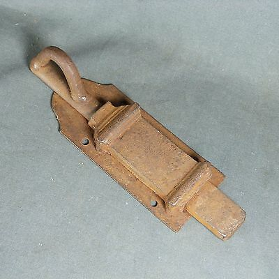 French Antique Hardware Iron Latch Lock Slide Bolt 19th century