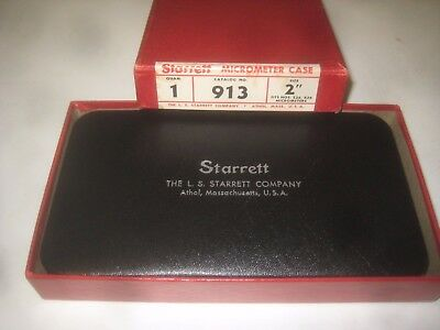 "Starrett #913 Case For 2""(50mm)Range Micro,fits #226,436.""new"" cond.vintage.60's"