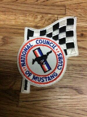 Vintage National Council Of Mustang Clubs Patch Dates From 1968-1970 Era