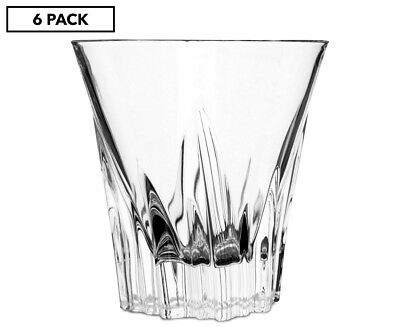 RCR Set of 6 Crystal Fluente 310mL Whisky Glasses