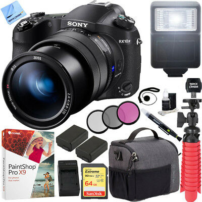 Sony RX10 IV Cyber-Shot High Zoom 20.1MP Camera 24-600mm F.2.4-F4 lens 64GB Kit