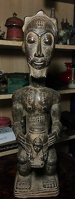 Antique African Carved Wood Sculpture.
