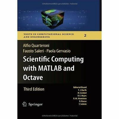 NEW Scientific Computing With Matlab And Octave by Fausto Saleri BOOK (Hardback)