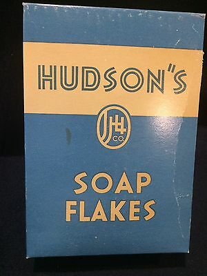 "1943 ""Hudson's Soap Flakes"" Box   In Unopened Original Condition"