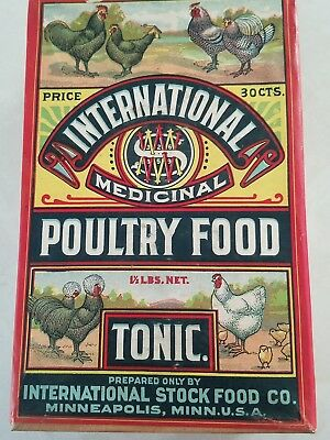 International Stock food co. poultry food new old store stock box