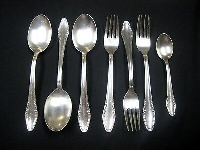 Vintage WMF CROMARGAN Germany Silverplate Flatware 7 Pc Mixed Lot Forks Spoons