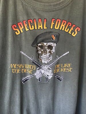 True Vintage Special Forces Military Shirt 1983 Army Marines Air Force Navy Sz M