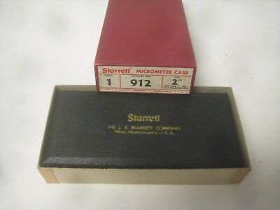 "STARRETT MICROMETER CASE #912  2""  fits #585,1212 micrometers ""new"""