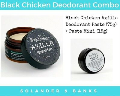 Black Chicken Deodorant Paste Combo Pack | 75g + 15g Axilla Two Pack
