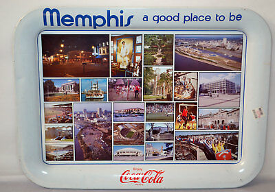 Vintage Memphis A Good Place To Be Coca Cola Tin Serving Plate