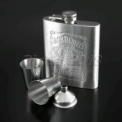 7oz Stainless Steel Hip Liquor Whiskey Pocket Flask Gift Box Cup Nice Men Gift
