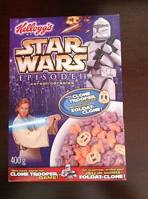 Kelloggs Star Wars Episode II Clone Trooper Cereal 2002 Unopened 400g Box
