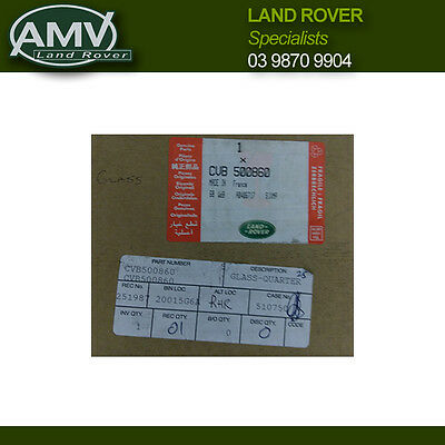 Land Rover Discovery series 3 - Right Hand Rear Door Quarter Glass - CVB500860