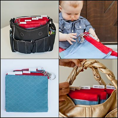 New  Files A Set of 5 Mesh Diaper Bag Organizer Inserts slate blue+cranberry
