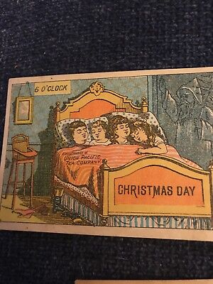 Set Of Five Victorian Trade Cards Christmas Day Union Pacific Tea Company