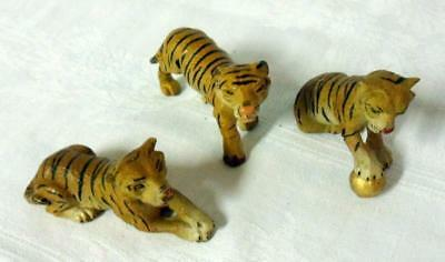 Elastolin Lineol Germany Composition Tiger Circus Playset Lot 3 Piece