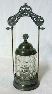 Victorian Era Silverplate Pickle Castor