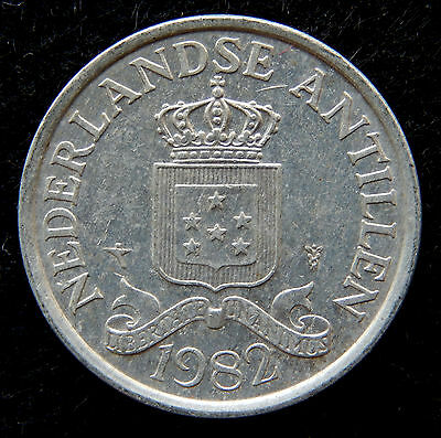 "1982 Netherlands Antilles 2 1/2 Cent Coin ""Uncirculated"" SB3857"