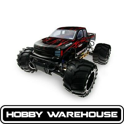 HSP 94050-50909 Black 2.4Ghz Petrol 32cc Baja 1/5 Scale RC Truck