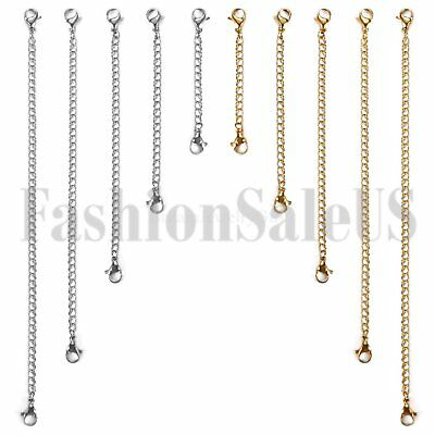 10 PCs Extended&Extension Jewelry Chains/Tail Extender Set for Necklace Bracelet