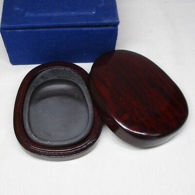B054: Chinese calligraphy tools. A smallish ink stone and case of good taste