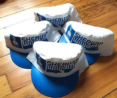 Lot Of 4 Vintage 80's Sherwin Williams Painters Caps Elastic NEW