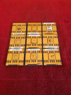 9 Rare Gold Top HP Nipple Processor Scrap CPU Recovery Industrial Strength Chips