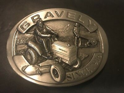 Vtg Gravely Tractor Silvertone Belt Buckle LE 528 EB Advertising 1984 Farming